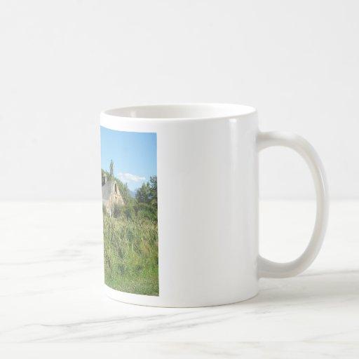 granja taza básica blanca