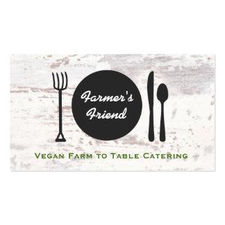 Granja vegetariana rústica para presentar el tarjetas de visita