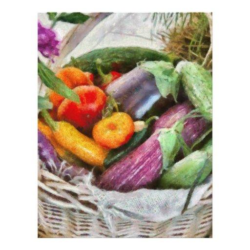 Granja - verduras frescas flyer a todo color