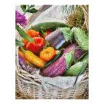 Granja - verduras frescas membrete personalizado