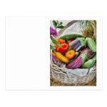 Granja - verduras frescas tarjeta postal