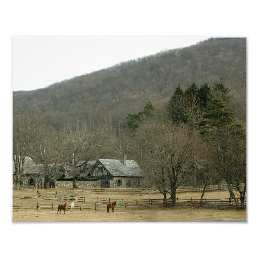 Granja vieja 14 x 11 del caballo fotografía