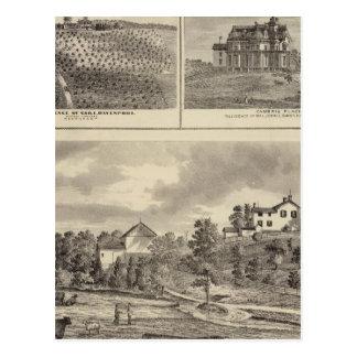 Granja, viñedo y residencias en el condado de postal