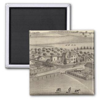 Granja y residencia comunes Benton Tp del remolin Iman De Nevera