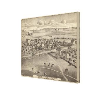 Granja y residencia comunes Benton Tp del remolin Lona Estirada Galerías