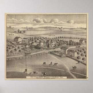 Granja y residencia comunes Benton Tp del remolin Poster