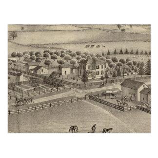 Granja y residencia comunes Benton Tp del remolin Tarjetas Postales