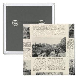 Granjas de Sonoma, California Pin Cuadrada 5 Cm