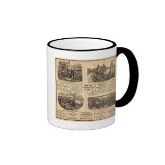 Granjas del aceite tazas de café