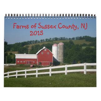 Granjas del calendario 2015 del condado de Sussex
