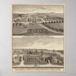 Granjas y lechería, Salem y Bristol Tp Posters