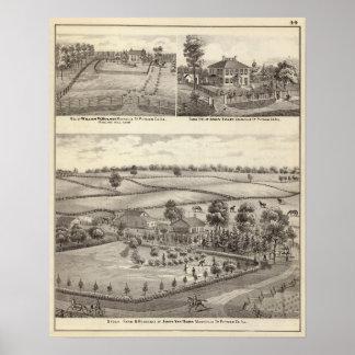 Granjas y residencias en magnolia poster