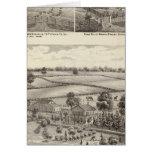 Granjas y residencias en magnolia tarjeta de felicitación