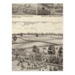 Granjas y residencias en magnolia tarjeta postal