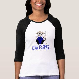 Granjero azul de la vaca de Brown y de la vaca bla Camisetas
