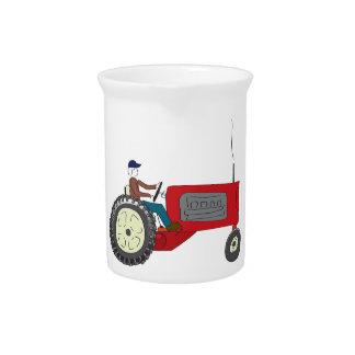Granjero Bob en su tractor Jarras