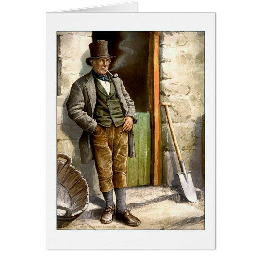 Granjero campesino irlandés tarjeta de felicitación