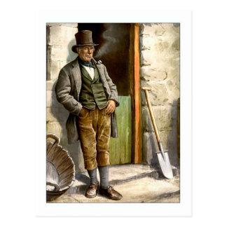 Granjero campesino irlandés tarjeta postal