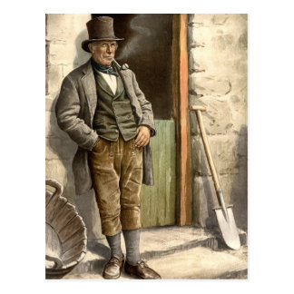 Granjero campesino irlandés tarjetas postales