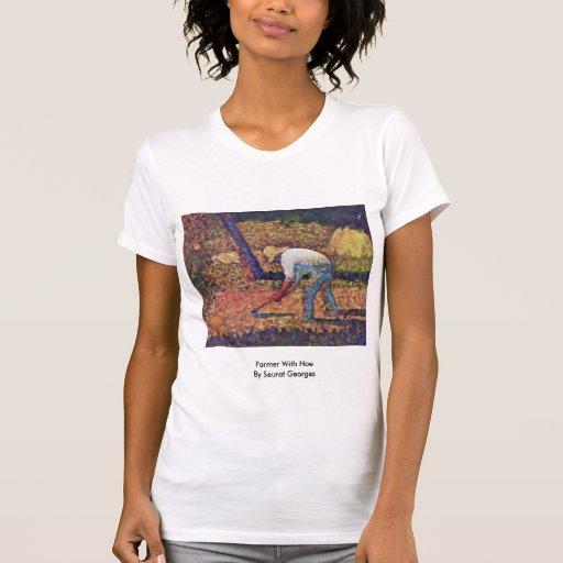 Granjero con la azada de Seurat Jorte Camiseta