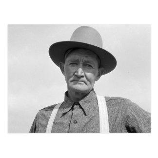 Granjero de Arkansas trasplantado a Oregon 1939 Postal