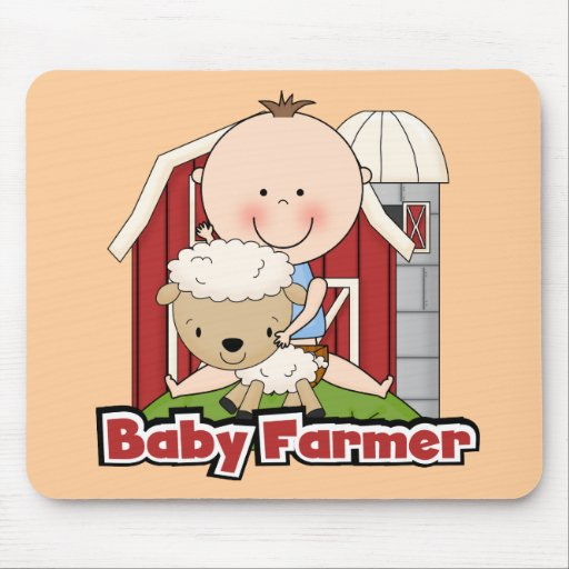 Granjero de bebé con las camisetas y los regalos alfombrilla de ratón