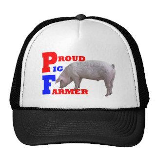 Granjero de cerdo gorros bordados