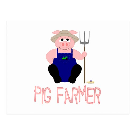 Granjero de cerdo rosado del rosa del cerdo del gr postal