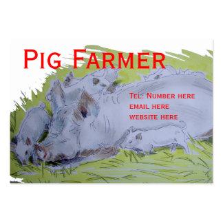 Granjero de cerdo tarjeta de negocio