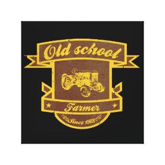 Granjero de la escuela vieja impresiones en lona estiradas