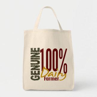 Granjero de lechería auténtico bolsa tela para la compra