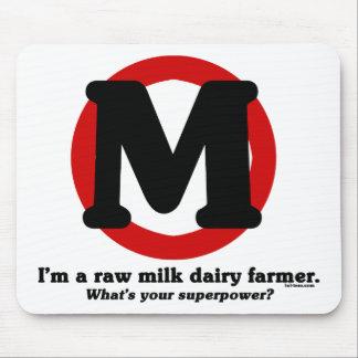 Granjero de lechería de la leche cruda tapetes de ratones