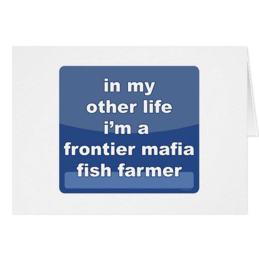 Granjero de los pescados de la mafia de la fronter felicitacion
