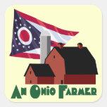 Granjero de Ohio Calcomanía Cuadradas Personalizadas