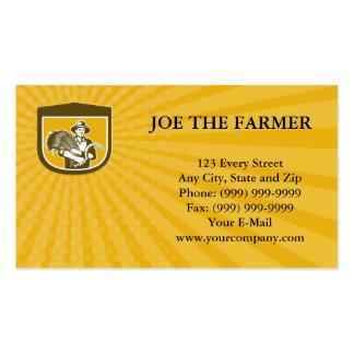Granjero de trigo de la tarjeta de visita con la g