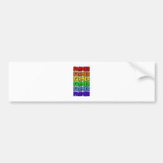 Granjero del arco iris pegatina de parachoque