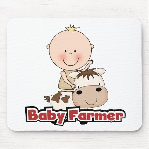 Granjero del bebé con las camisetas y los regalos tapete de ratón