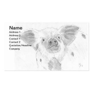 Granjero del bosquejo del dibujo de lápiz del coch tarjetas de visita