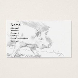Granjero del bosquejo del dibujo de lápiz del tarjeta de negocios