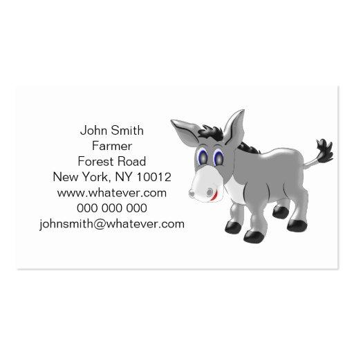Granjero del burro tarjetas de visita