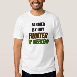 Granjero del cazador del día por fin de semana playeras