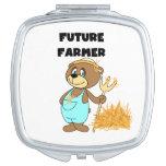 Granjero del futuro del oso espejos compactos