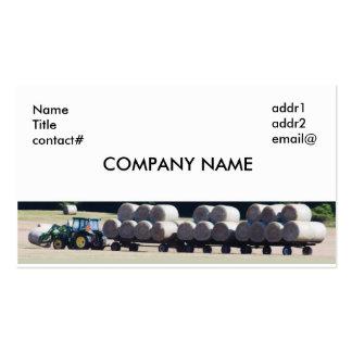 granjero del heno plantillas de tarjetas personales