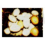 Granjero del huevo - cesta de huevos tarjetas