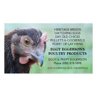 Granjero del huevo del pollo de la gallina del tarjetas de visita