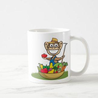 Granjero del mono tazas