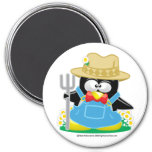 Granjero del pingüino imán de frigorífico