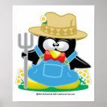 Granjero del pingüino impresiones