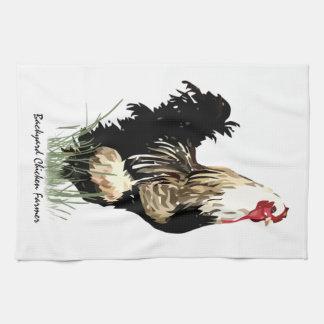 Granjero del pollo del patio trasero con diseño de toallas