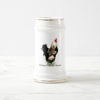 Granjero del pollo del patio trasero con diseño jarra de cerveza